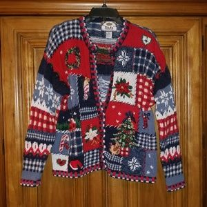 Tiara International Sweater Cardigan Christmas